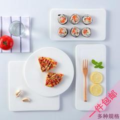 蝴蝶姬纯白陶瓷盘子西餐盘牛排盘平板盘子蛋糕盘寿司盘日式摆盘酒