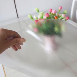 水透明桌垫餐桌布茶几垫磨砂水晶板软质玻璃包邮2019新款圆桌布