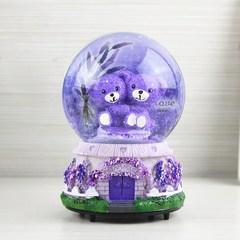 水晶球音乐盒天空之城雪花八音盒送儿童女生生日礼物玻璃球小摆件