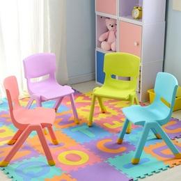 加厚儿童可爱幼儿园靠背椅宝宝椅子塑料小孩学习桌椅家用防滑凳子