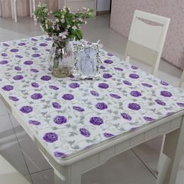 pvc餐桌布防水防烫防油茶几垫不透明印花软玻璃水晶板桌垫可订制