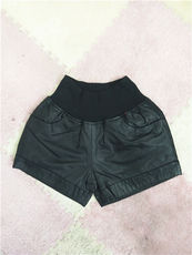 Shorts leather pants
