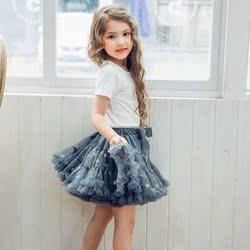 春秋女童tutu裙蓬蓬公主裙儿童蛋糕婴儿宝宝周岁礼服网纱半身短裙
