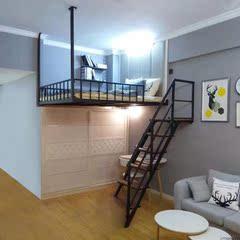 新款铁艺床学生高架床多功能床创意简约空间楼阁单身公寓高架床