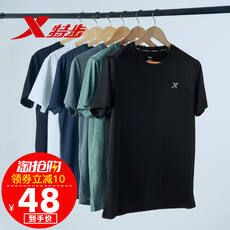 Special step short-sleeved t-shirt men's 2019 summer new loose trend black round neck quick-drying half-sleeved sports shirt
