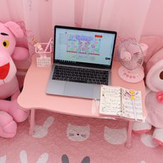 Pink bed laptop tabl...