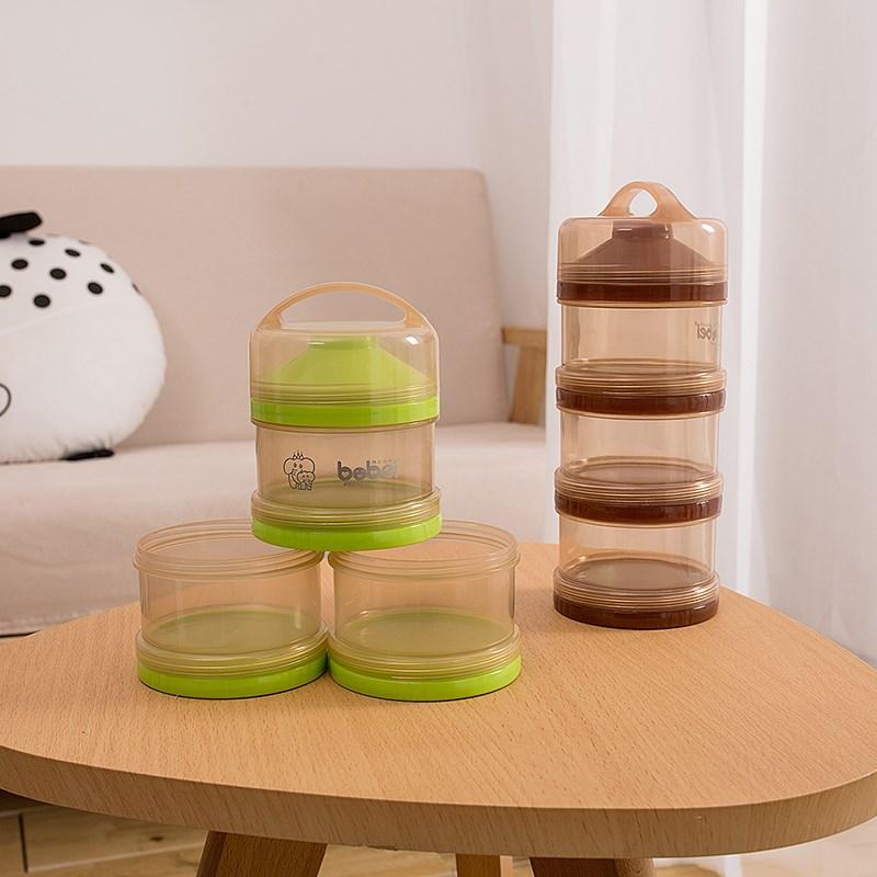 新生婴儿奶粉盒便携外出三层大容量宝宝两用辅食密封储存罐分装盒
