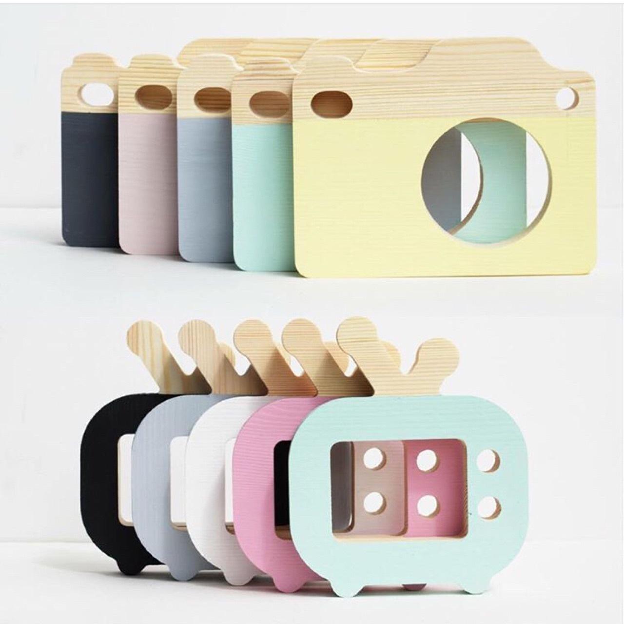 爆款木质相机玩具摆件创意儿童房童装店装饰摄影拍照道具