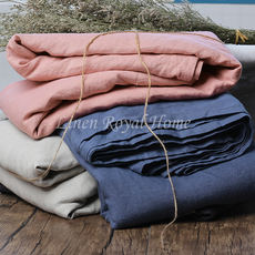 Pure washed linen sheets enzymes washed genuine bedding French imports linen 1.51.8 meters sleep single soft