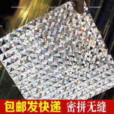 Seamless dense spell 13 crystal glass mosaic mirror edging TV background wall border line video wall stickers