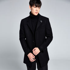 D1100 king returned three standard full brick cabinet 1680 yuan 50% wool men's long wool coat coat