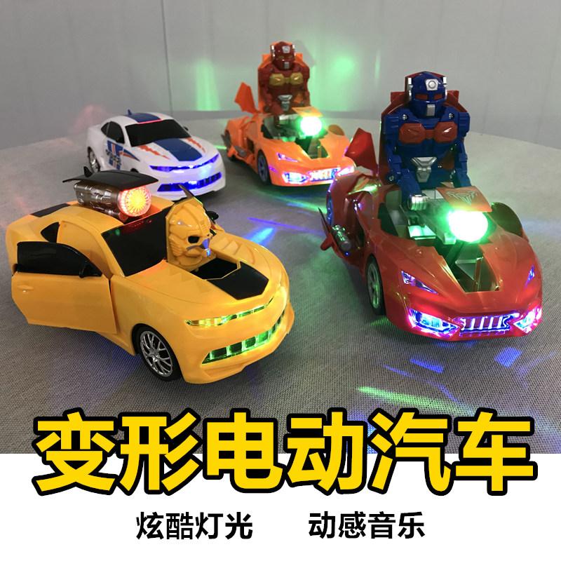 宝宝婴儿童电动玩具警汽车珀利跑模型变形大黄蜂2小男生孩子1-3岁