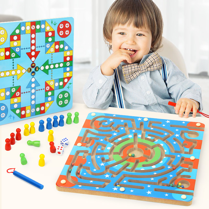 飞行棋游戏旗小学生迷宫玩具走珠儿童智力开发益智男孩3-4-6-7岁