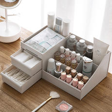 Home cosmetics storage box desktop remote control finishing box Dividing makeup brush lipstick mask rack