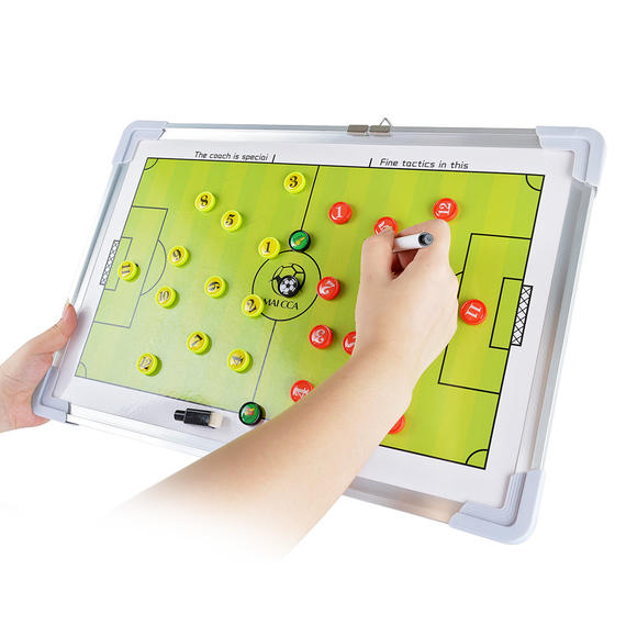 New whale football tactical board coach teaching board Aluminum alloy color magnetic football training training teaching board