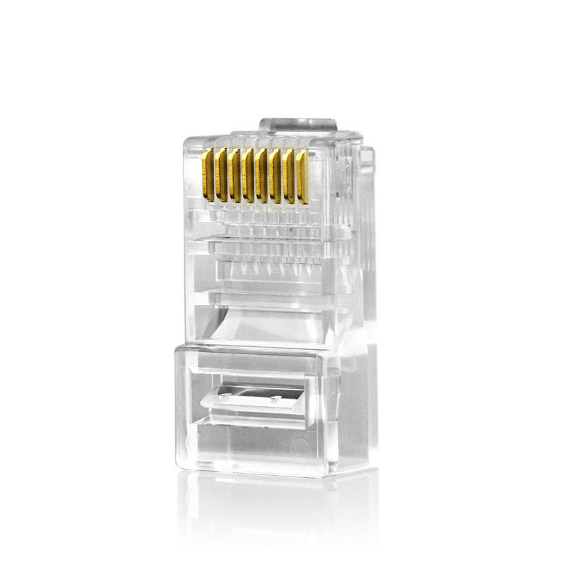 睿阜RJ45水晶头网络8芯水晶头超五类网线宽带水晶头10个