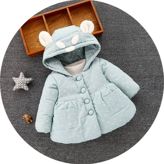 Girls thick cotton coat 0-1 years old 3 two and a half years 4 female baby winter clothes little girl cotton jacket winter baby cotton clothes