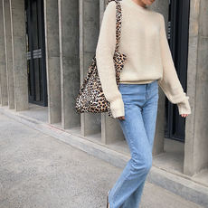 This autumn chao warm round neck knit pullover
