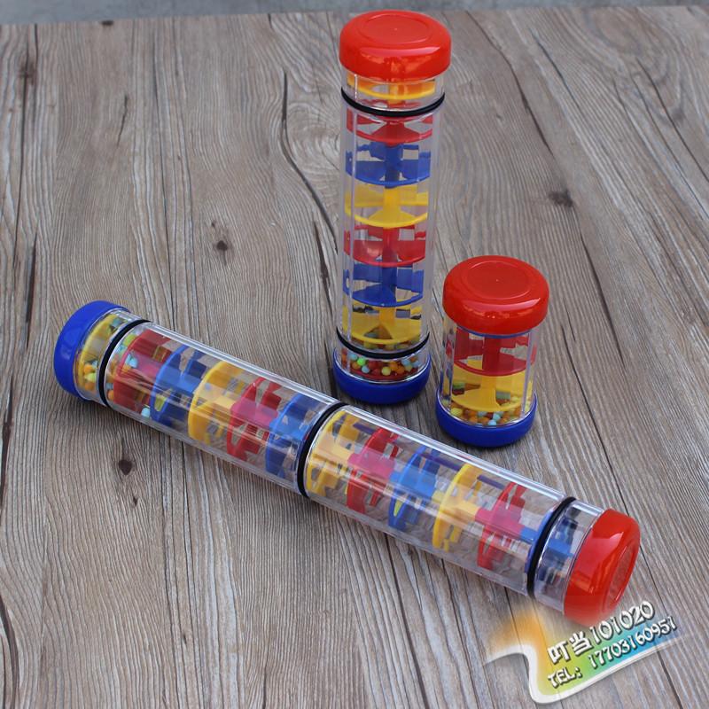 奥尔夫打击乐器雨声筒玩具雨声器沙漏儿童幼儿园早教教具塑料响筒