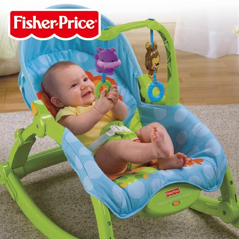 费雪多功能宝宝哄睡安抚摇椅新生婴儿摇椅躺椅安抚摇床睡床W2811