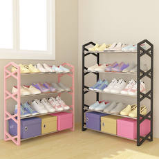 Simple multi-layer shoe rack home economic dormitory dust-proof storage simple modern shoe cabinet dormitory small shoes shelf