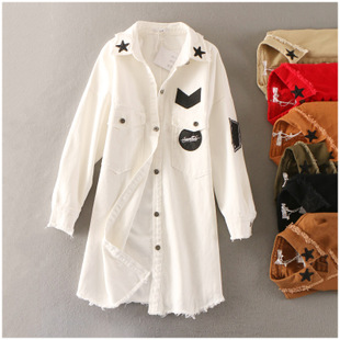 特价 冬季大码宽松长袖单排扣韩版牛仔外套女11330