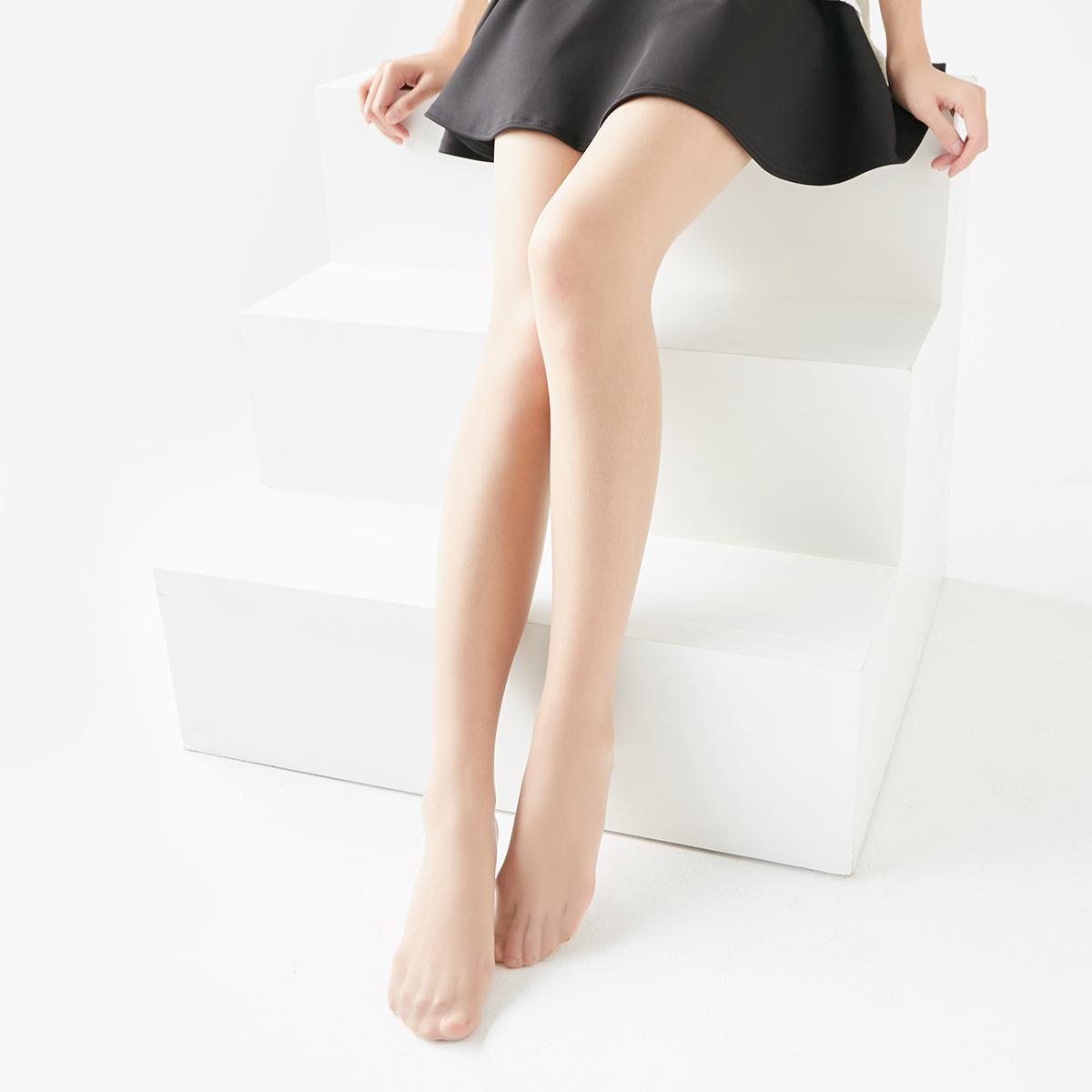 美腿10d超柔通透光腿神器进口蚕丝袜超薄丝袜 黑丝连裤袜
