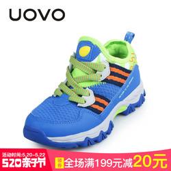 uovo儿童鞋子男童运动鞋童鞋2018春款中大童透气网面小孩子的鞋子