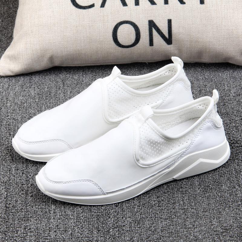 新款秋季男鞋白色帆布鞋男板鞋韩版男士休闲鞋男潮鞋透气百搭布鞋