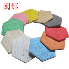 Hexagonal wood silk sound absorbing panel Indoor flame retardant environmental protection fireproof soundboard stadium decoration sound absorbing panel ceiling