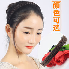 Wig female nephew card issuing twist braid headband wide non-slip toothed Korean version of the fashion hair ring tweezers headband