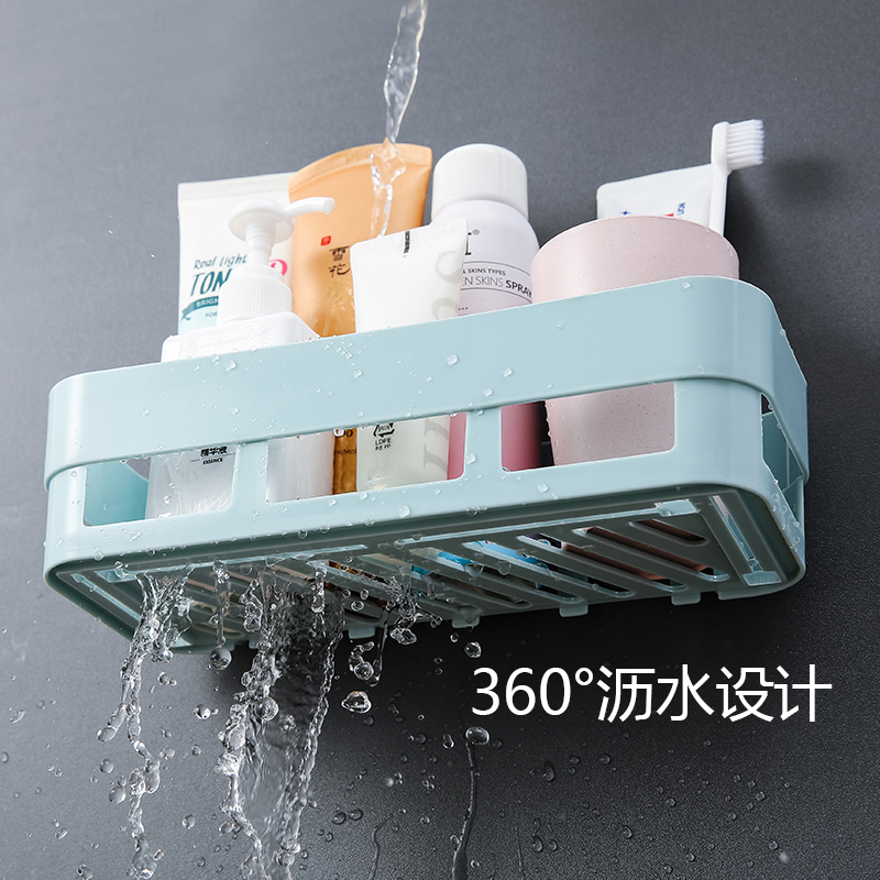 卫生间浴室厕所洗手间免打孔墙上置物架卫浴厨房洗漱台壁挂收纳架
