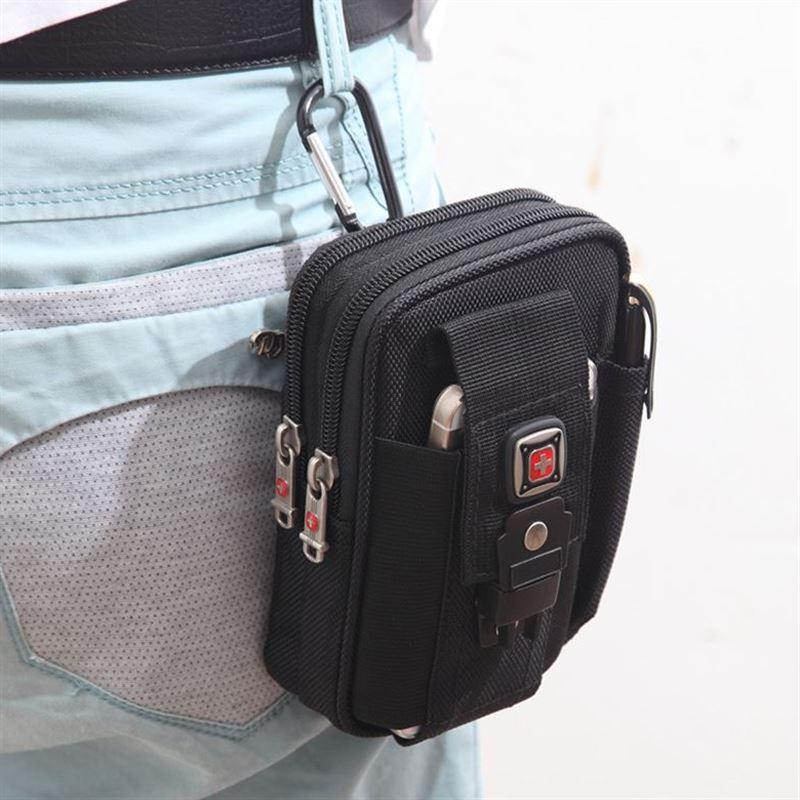 多功能运动包腰包男登山包挂包穿皮带5.5 5.7 6寸包