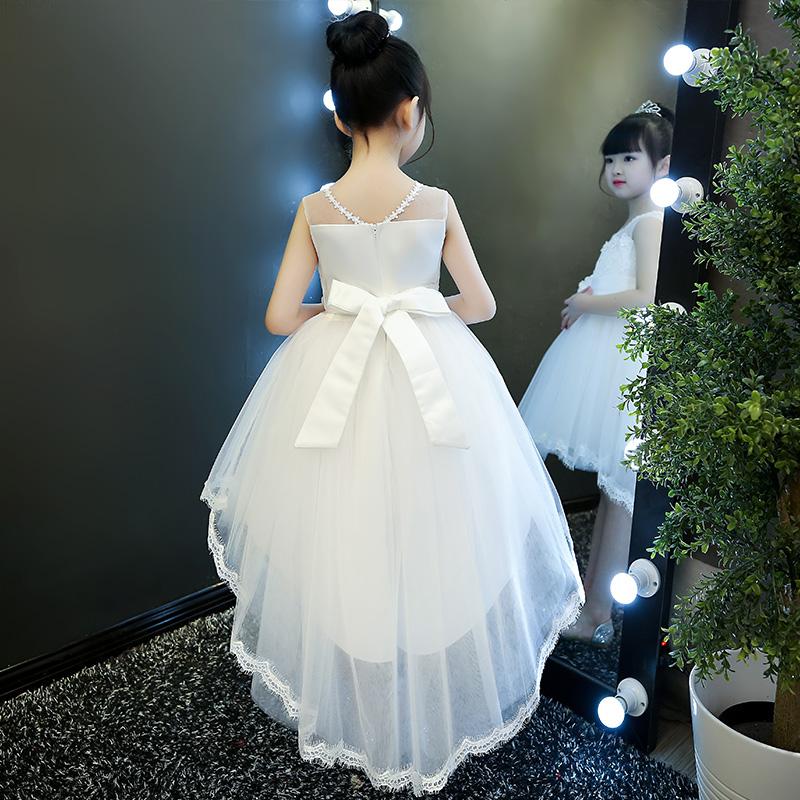 女童2019新款夏装蓬蓬纱连衣裙小女孩拖尾裙子儿童夏季洋气公主裙