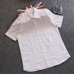 特价纯棉男士短袖夏季男装衬衫中年男士半袖薄衬衣宽松上衣潮