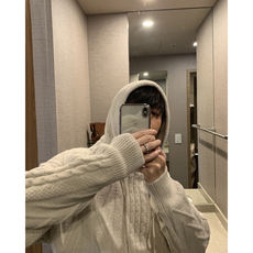 CCJE super warm thick thread thick hooded knit jacket men and women couple loose hooded hooded sweater