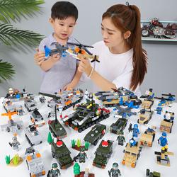 匹配乐高积木军事特警益智拼装儿童12玩具7男孩子3-6周岁8女孩10
