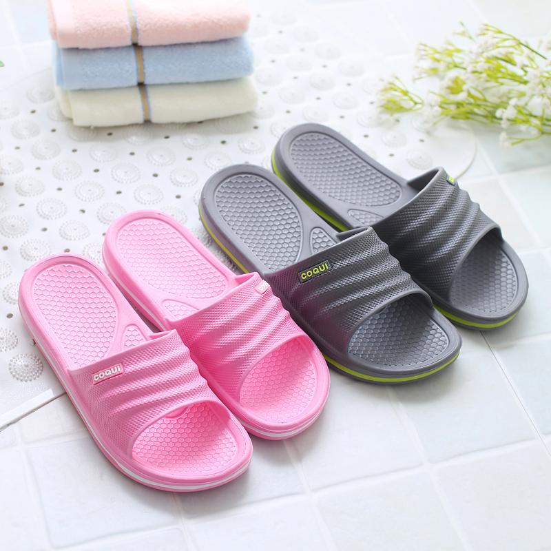 家居凉拖 夏季男女浴室洗澡防滑拖鞋 软底塑料厚底室内居家鞋