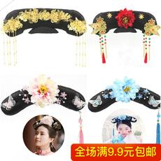 Film and television costume / photo studio ancient wig / Qing Dynasty court / Gege headdress / rumor / flag hair accessories