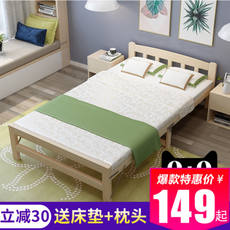 Folding bed single bed adult home simple bed double bed siesta board bed office solid wood small bed