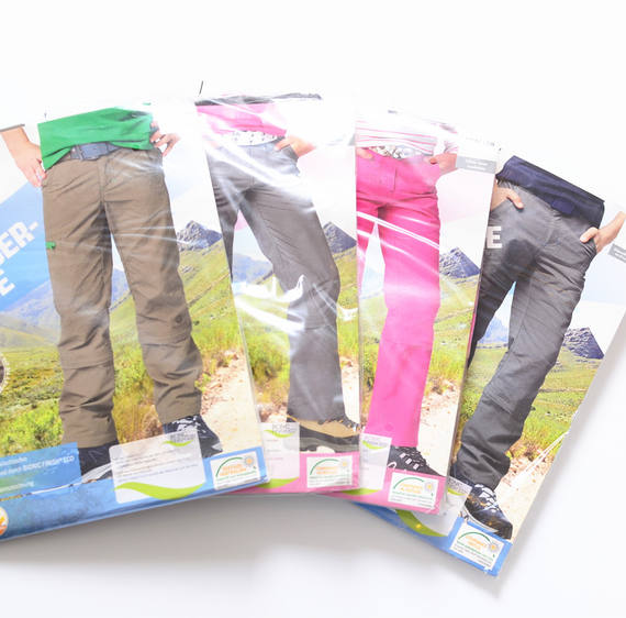 Men and women big children outdoor sports Gore-Tex pants Ultra-light and ultra-thin two-piece cropped pants Waterproof and UV protection