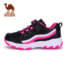 Small camel children's shoes in the big children's girls sports shoes children's shock absorption low to help running shoes cushioning thickening heel running shoes