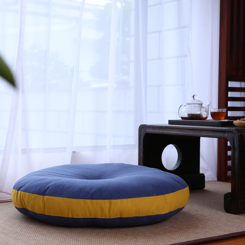 日式大号棉麻蒲团 加厚打坐瑜伽垫 飘窗地毯榻榻米搭配 直径65