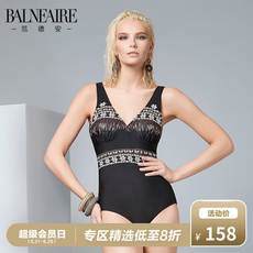 Van Dean covered belly slim swimsuit conservative small chest gathered backless swimsuit Spa elegant one-piece swimsuit female