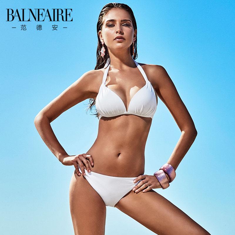范德安比基尼泳衣女 小胸聚拢性感露背显瘦沙滩度假分体游泳衣