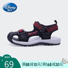 迪士尼童鞋 男童凉鞋2019新款儿童包头凉鞋韩版夏季中大童沙滩鞋