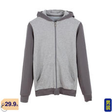 Spring and Autumn Thin Men's Wear Cap Zipper Sweater Long Sleeve Sports Jacket Comfortable and Breathable Force 0642