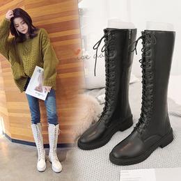 长靴女过膝靴骑士靴2018新款冬季高筒靴加绒皮靴中筒马靴长筒靴子
