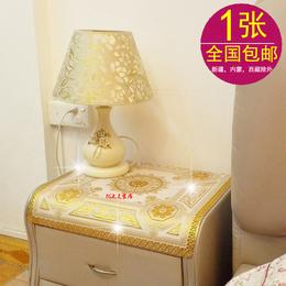 包邮PVC烫金桌布 床头柜罩 茶几布台布 冰箱垫 50*50CM 餐桌垫