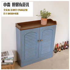 Literary solid wood floor heating water traps box multimedia weak meter box cover cabinet custom Nordic Mediterranean